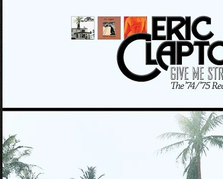Eric Clapton Give Me Strength Packshot