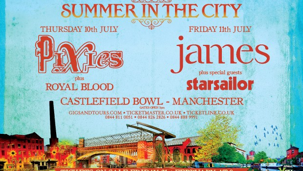 NEWS: PIXIES AND JAMES TO PLAY CASTLEFIELD BOWL FOR FIRST 'SUMMER IN THE CITY'