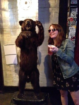Hanging out with Grizzly Bear!