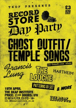 Record Store Day Party @ The Deaf Institute
