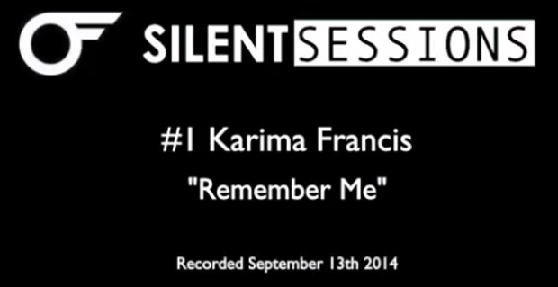 KARIMA FRANCIS PERFORMS LIVE FOR FIRST SILENT SESSION VIDEO