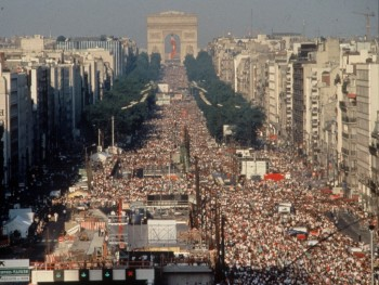 Crowds At Jean-Michel Jarre Paris Concert