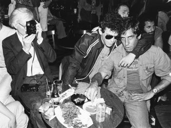 Danny Fields being photographed by Andy Warhol