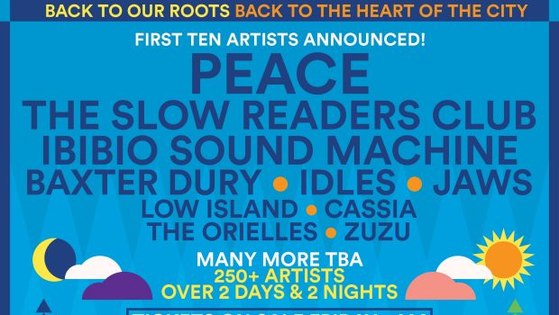 SOUND CITY REVEAL PEACE, SLOW READERS CLUB, IBIBIO SOUND MACHINE, BAXTER DURY, IDLES, JAWS, LOW ISLAND, CASSIA, THE ORIELLES AND ZUZU